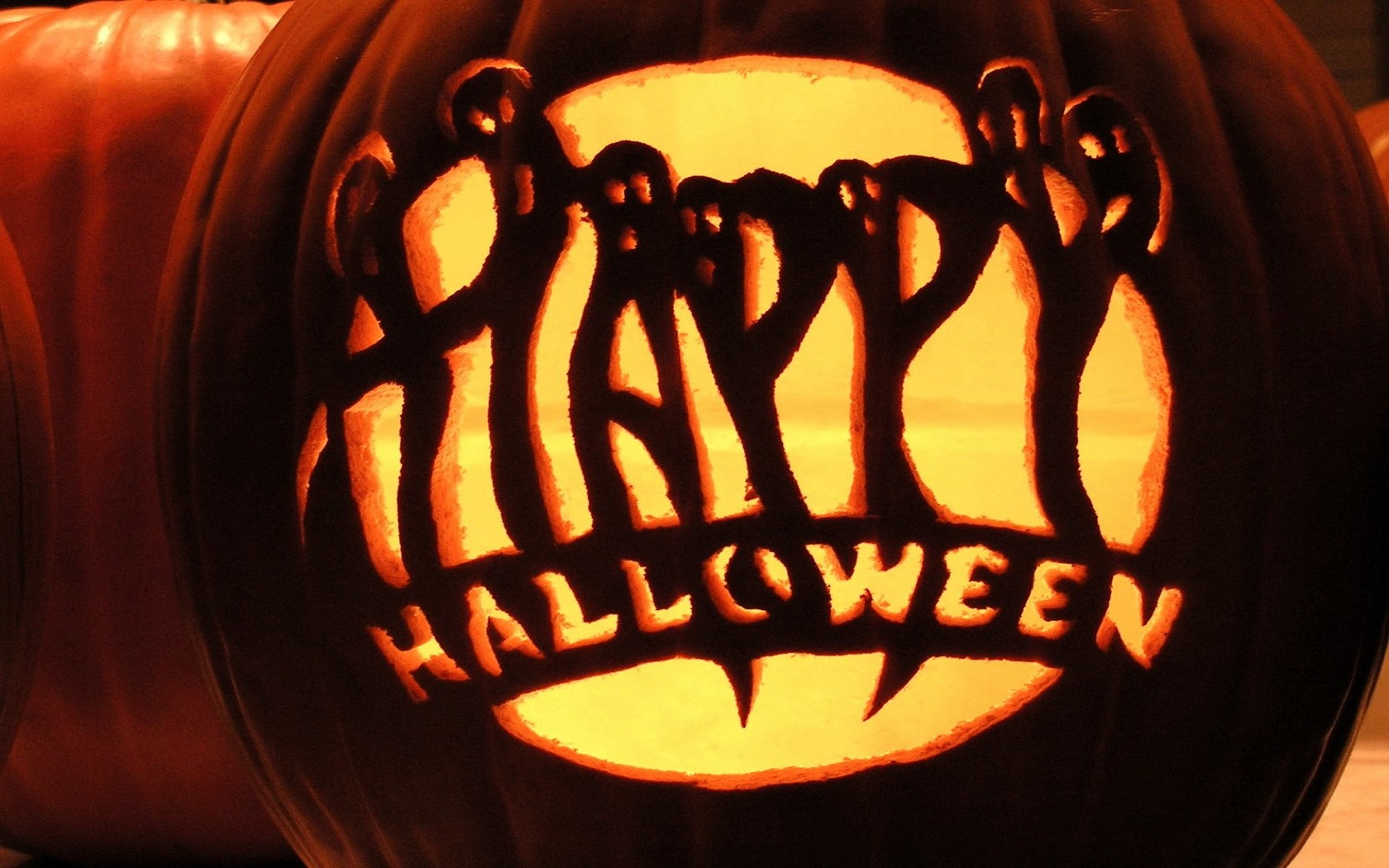 Happy Halloween Picture Pumpkin With Saying - buyretina.us